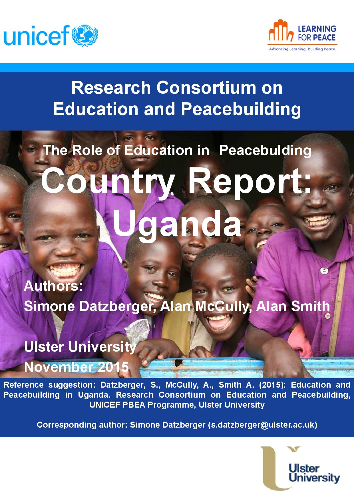 Uganda PBEA Country Report Cover 2015